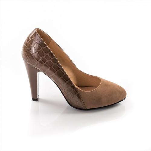 Pantofi dama rayna khaki cu toc la pret redus online vezi - Toc toc la shop ...
