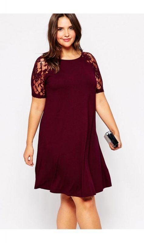 rochie xxl like burgundy la pret redus online vezi ofertele smart shopping pentru haine dama. Black Bedroom Furniture Sets. Home Design Ideas