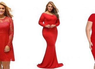 rochii rosii xxl